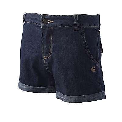 Carhartt Girls' Classic Wash Denim Short - front
