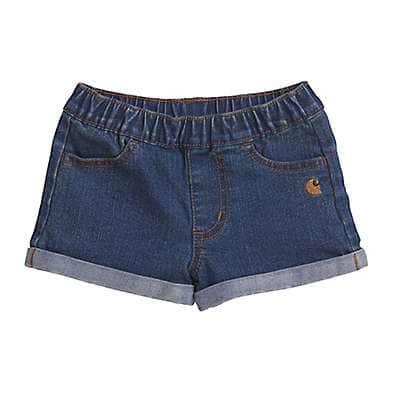 Carhartt Girls' Medium Wash Denim Short - front