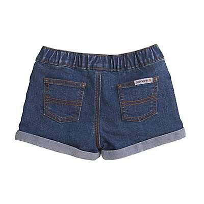 Carhartt Girls' Medium Wash Denim Short - back