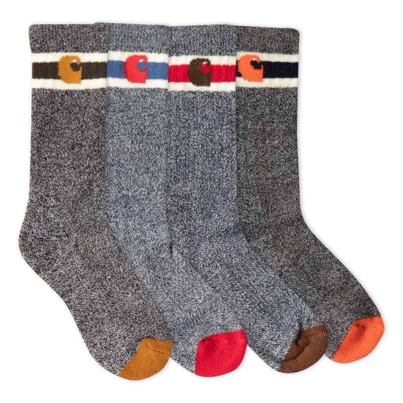 Carhartt  Assorted 01 Camp Crew Sock 6 Pack