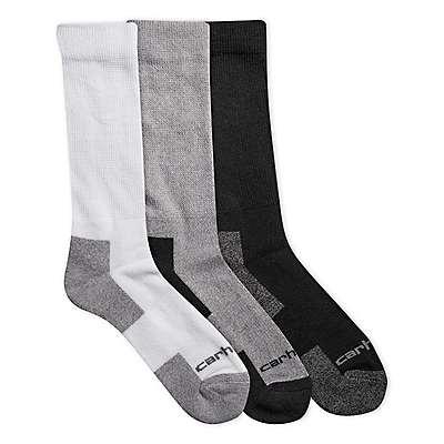 Carhartt Men's Assorted 01 All-Season Comfort Stretch Crew Sock 3 Pack
