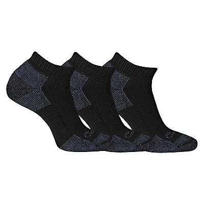 Carhartt Men's Black Cotton Low Cut Sock, 3 Pack