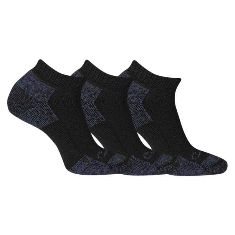 Carhartt  Black Cotton Low Cut Sock, 3 Pack