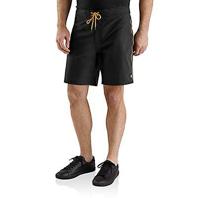 """Carhartt  Black Hurley x Carhartt Men's 7"""" Board Shorts - front"""