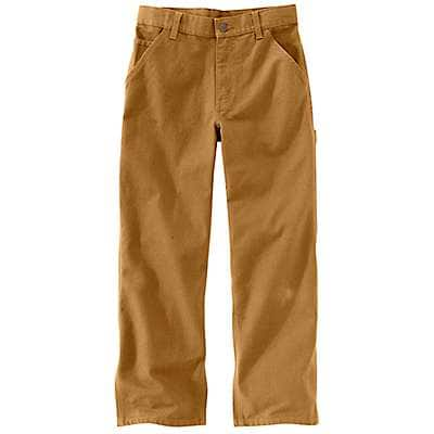 Carhartt Boys' Carhartt Brown Duck Dungaree Sizes 8-16 - front