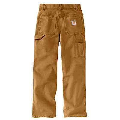 Carhartt Boys' Carhartt Brown Duck Dungaree Sizes 8-16 - back