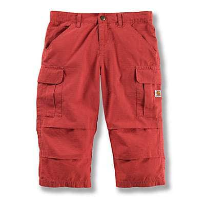 Carhartt Girls' Mineral Red Cropped Pant - front
