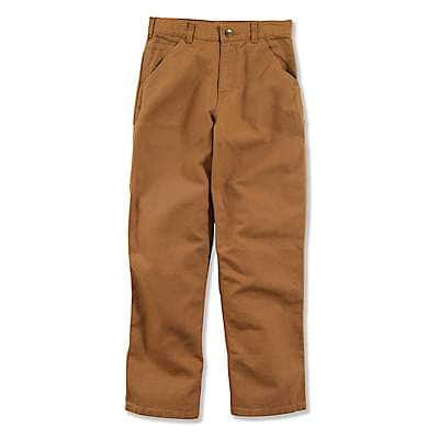 Carhartt Boys' Carhartt Brown Canvas Dungaree Sizes 4-7 - front