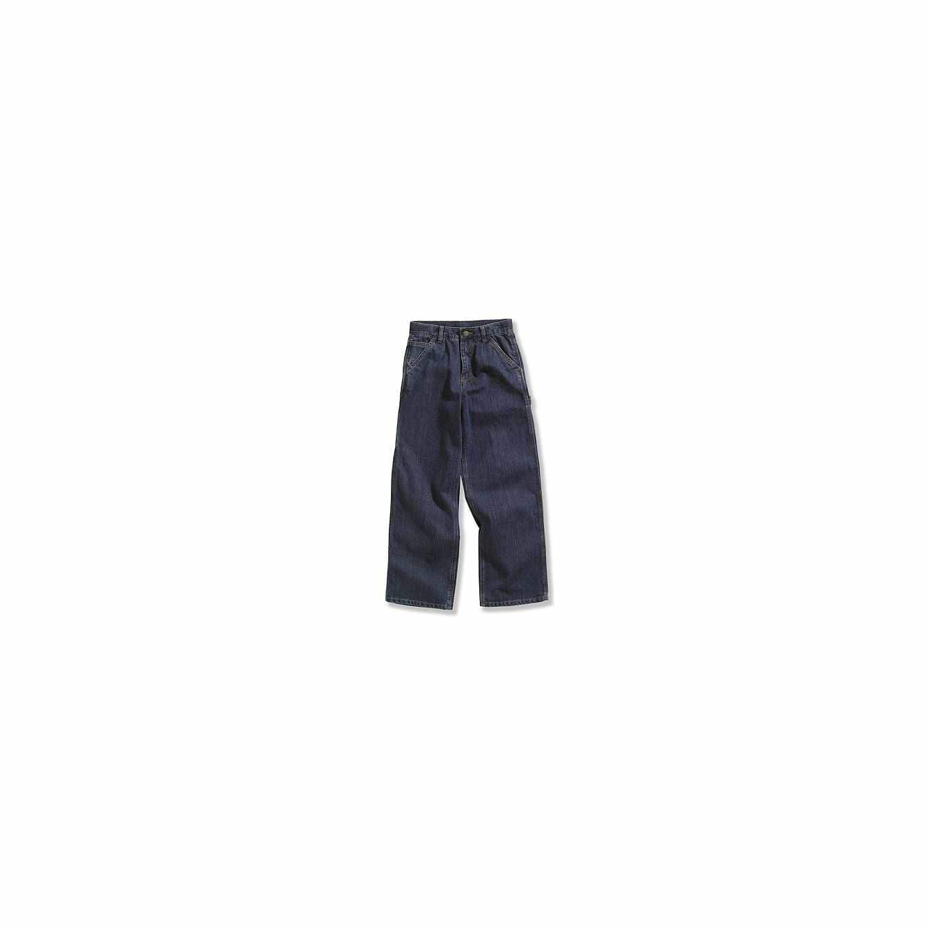 Picture of Washed Denim Dungaree in Worn In Blue