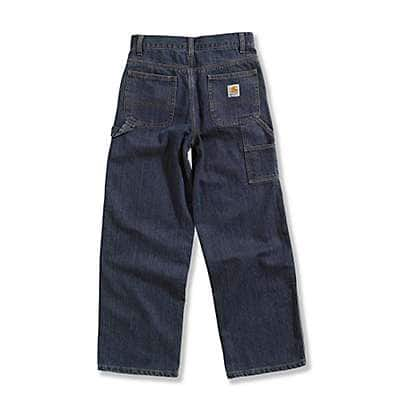 Carhartt Boys' Worn In Blue Washed Denim Dungaree - back