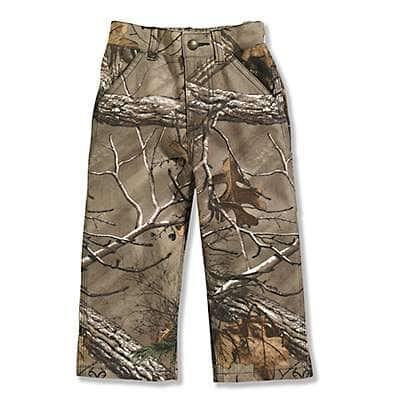Carhartt Boys' Realtree Xtra Infant and Toddler Washed Camo Pant - front