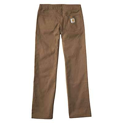 Carhartt Boys' Dark Tan Canvas 5-Pocket Pant - back