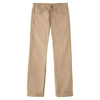 Carhartt Boys' Dark Tan Canvas 5-Pocket Pant - front