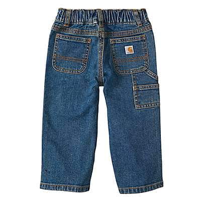Carhartt Boys' Medium Wash Washed Denim Dungaree - back