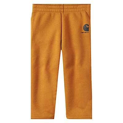 Carhartt Boys' Carhartt Brown Fleece Pant - front