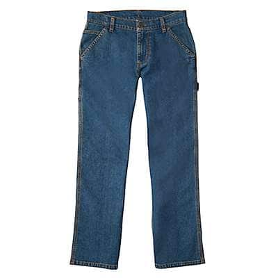 Carhartt Boys' Medium Wash Denim Dungaree Pant - front