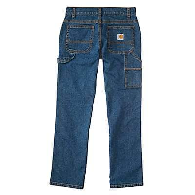 Carhartt Boys' Medium Wash Denim Dungaree Pant - back