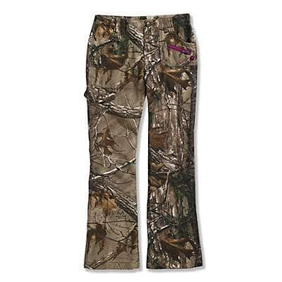 Carhartt Girls' Realtree Xtra Washed Camo Pant - front