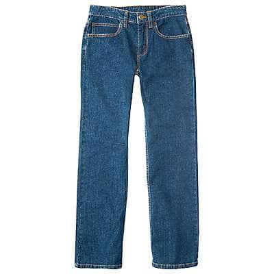Carhartt Girls' Medium Wash Denim 5-Pocket Jean - front