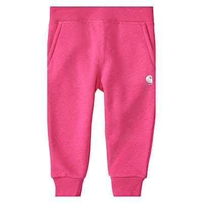 Carhartt Girls' Fuschia Purple Heather Fleece Jogger - front