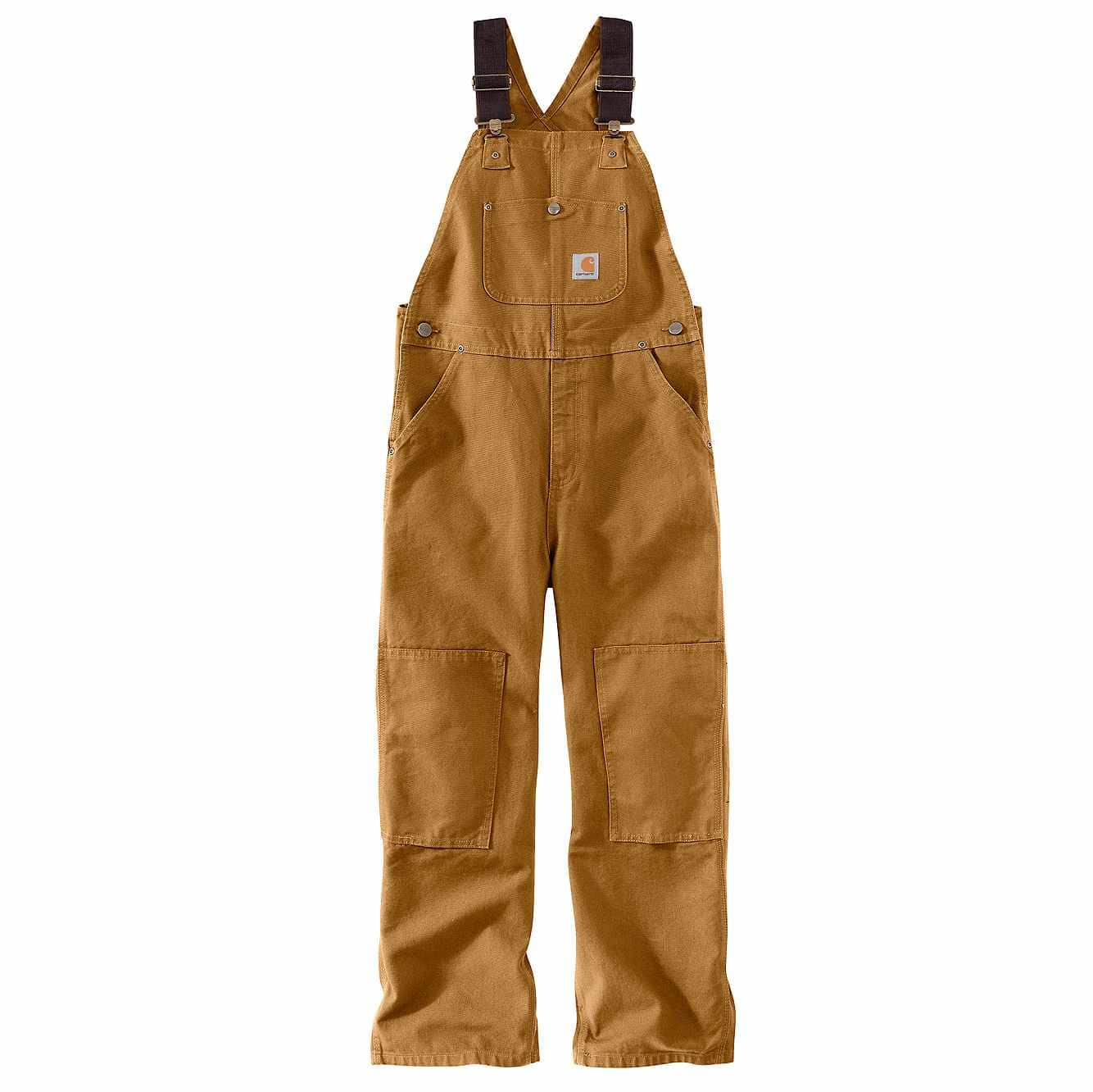 Picture of Duck Washed Bib Overall Sizes 8-16 in Carhartt Brown