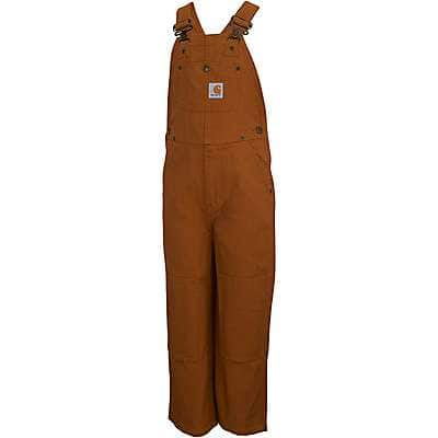 Carhartt Boys' Carhartt Brown Duck Washed Bib Overall Sizes 4-7 - front