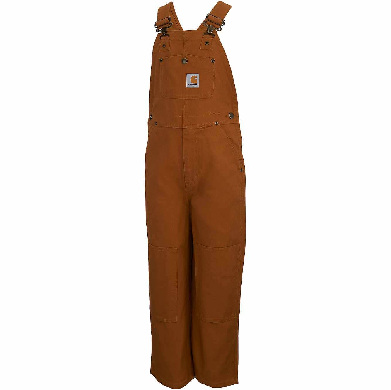 Picture of Duck Washed Bib Overall Sizes 4-7 in Carhartt Brown