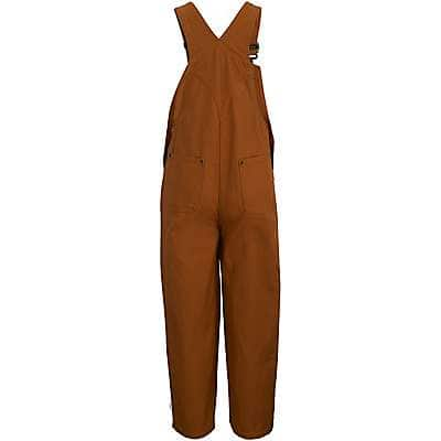 Carhartt Boys' Carhartt Brown Duck Washed Bib Overall Sizes 4-7 - back
