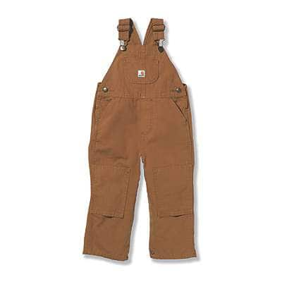 Carhartt Boys' Carhartt Brown Canvas Bib Overall - front