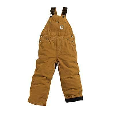 Carhartt Boys' Carhartt Brown Duck Overall Quilt-Lined Sizes 8-16 - front