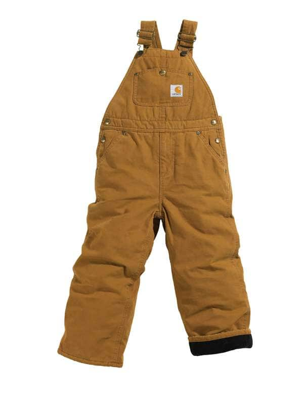 Carhartt  Carhartt Brown Canvas Overall Quilt-Lined Sizes 4-7
