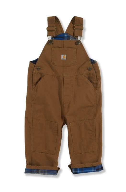 Carhartt  Carhartt Brown Canvas Bib Overall Flannel-Lined