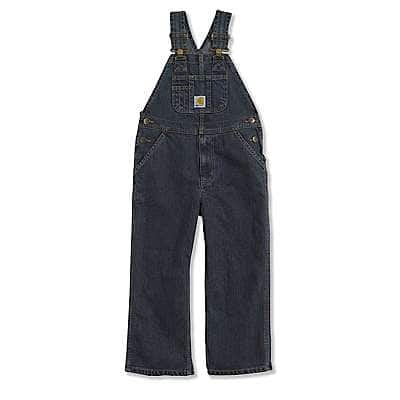 Carhartt Boys' Worn In Blue Washed Denim Bib Overall - front