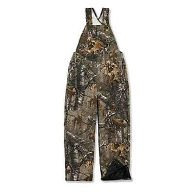 Carhartt Boys' Realtree Xtra Realtree Xtra® Camo Bib Overall Quilt-Lined - front