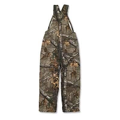 Carhartt Boys' Realtree Xtra Realtree Xtra® Camo Bib Overall Quilt-Lined - back