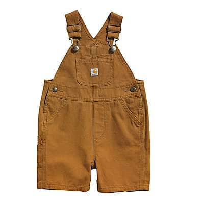 Carhartt Boys' Carhartt Brown Canvas Bib Shortall - front