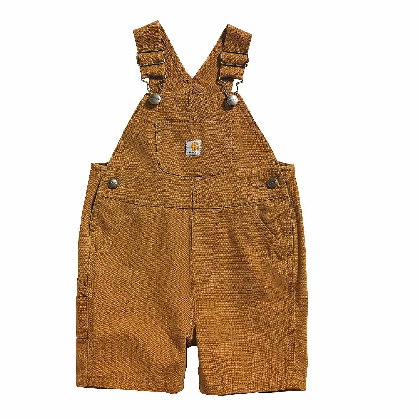 Picture of Canvas Bib Shortall in Carhartt Brown