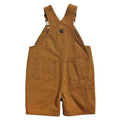Carhartt Boys' Carhartt Brown Canvas Bib Shortall - back