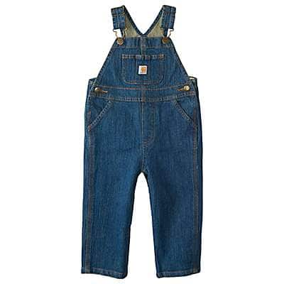 Carhartt Boys' Medium Wash Washed Denim Bib Overall - front
