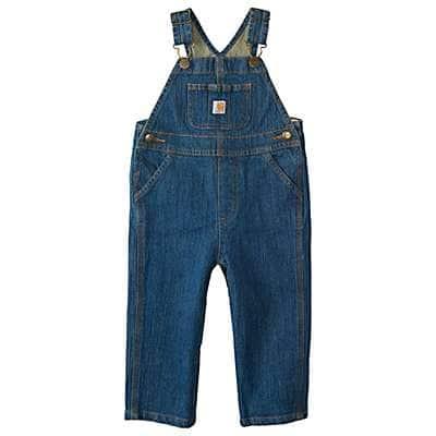 Carhartt Kid's Denim Medium Wash Washed Denim Bib Overall