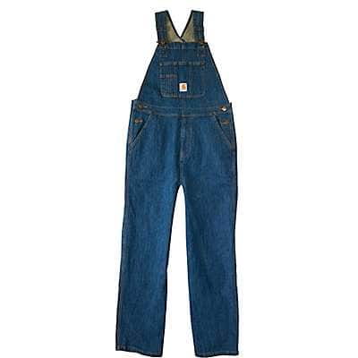 Carhartt Boys' Medium Wash Denim Overall Unlined - front