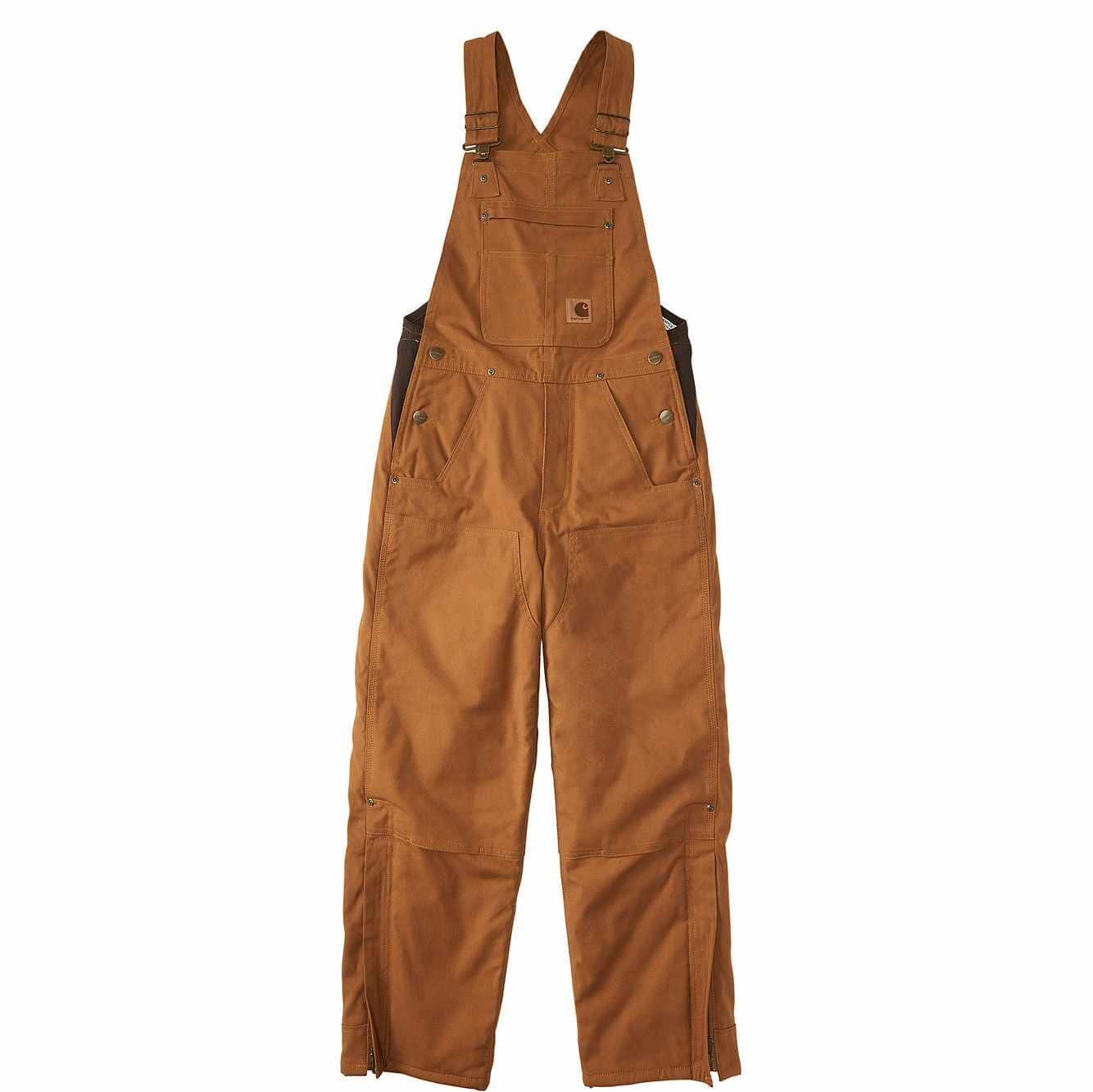 Picture of Canvas Bib Overall Quilt-Lined in Carhartt Brown
