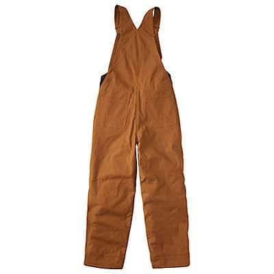 Carhartt Boys' Carhartt Brown Canvas Bib Overall Quilt-Lined - back