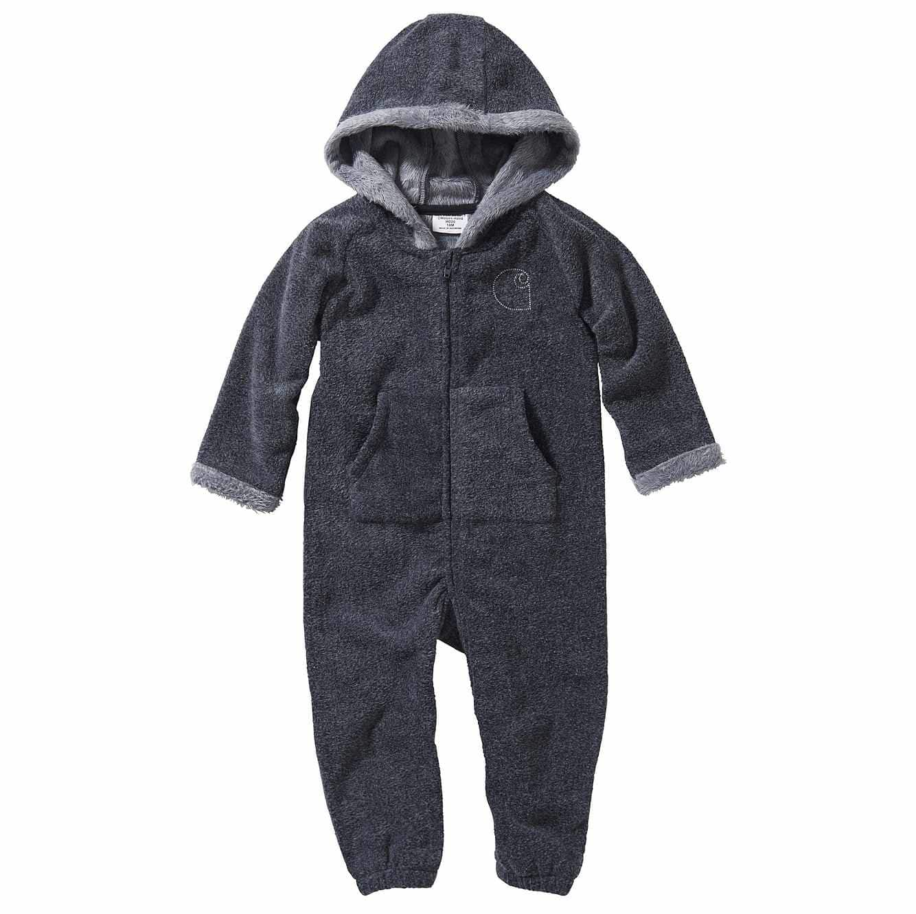 Picture of Long Sleeve Polar Fleece/ Fur Lined Coverall in Granite Heather