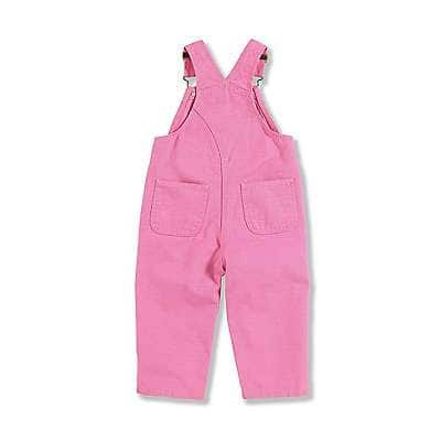 Carhartt Girls' RSM-Rose Bloom Canvas Bib Overall - back