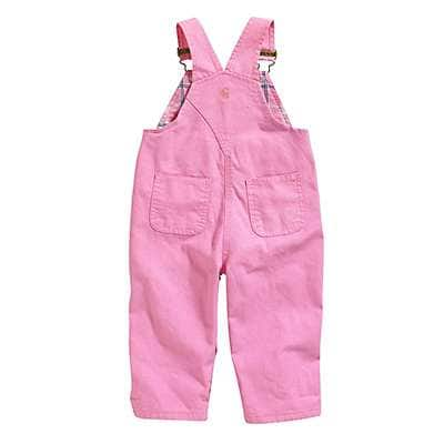 Carhartt Girls' RSM-Rose Bloom Canvas Overall Flannel-Lined - back