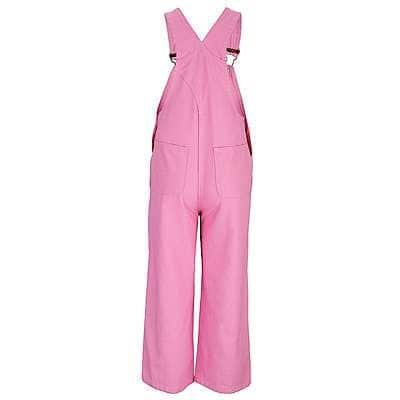 Carhartt Girls' RSM-Rose Bloom Canvas Bib Overalls - back