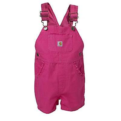Carhartt  Fandango Pink Infant/Toddler Bib Shortall - front