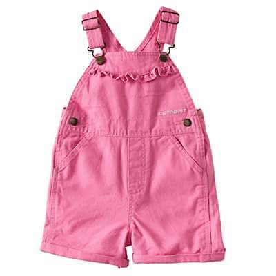 Carhartt Girls' RSM-Rose Bloom Canvas Bib Shortall - front