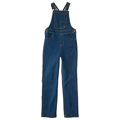 Carhartt Girls' Medium Wash Denim Overall Unlined - front